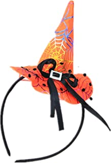 Winzik Children Halloween Headwear Mini Pointy Witch Hat Cute Hair Hoop Hairband Accessories Cosplay Party Props Decoration