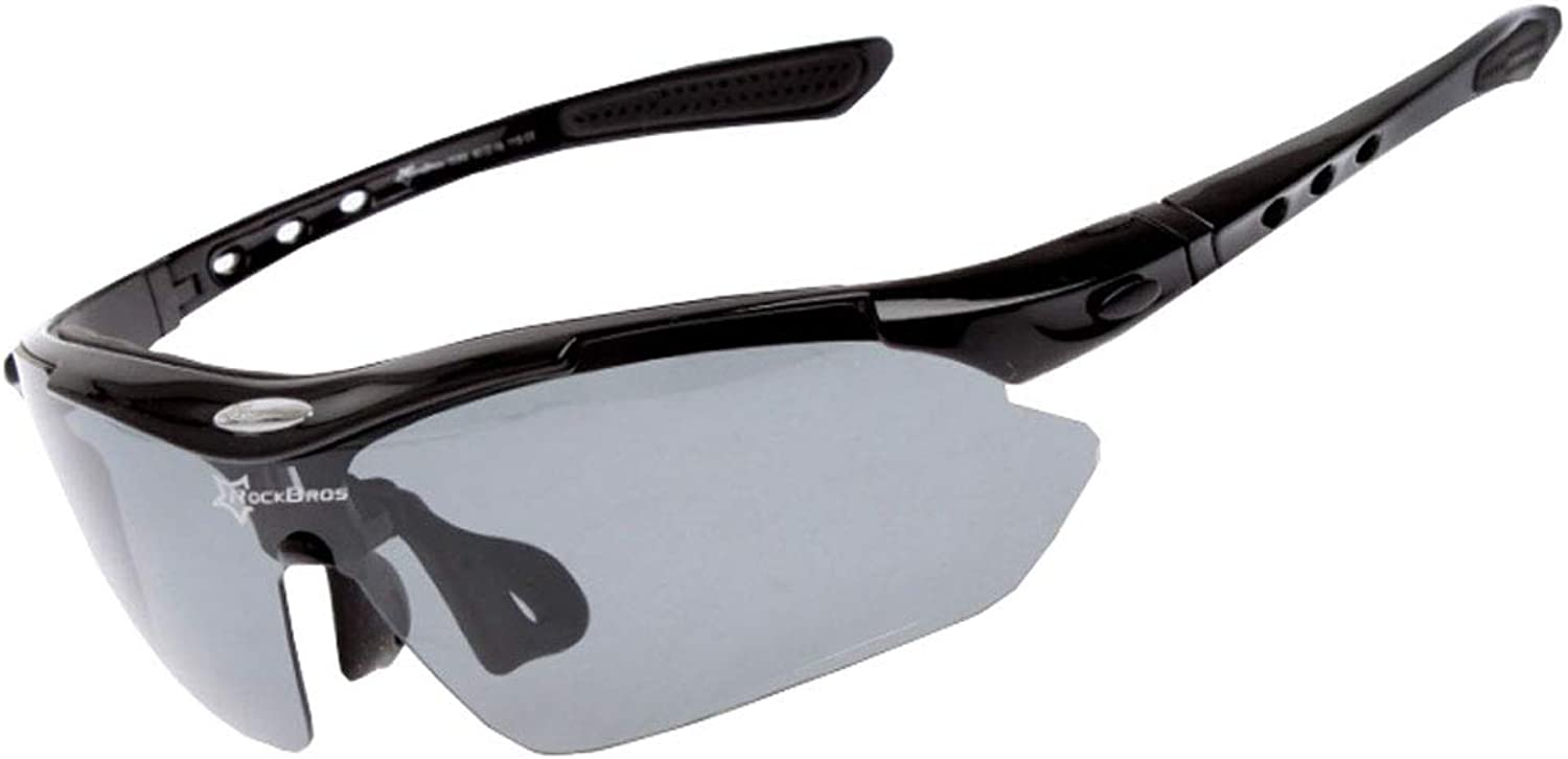 Classic Polarized Riding Glasses for Men and Women Outdoor Sports Bicycle Mirror with Myopia Frame (color   Black)