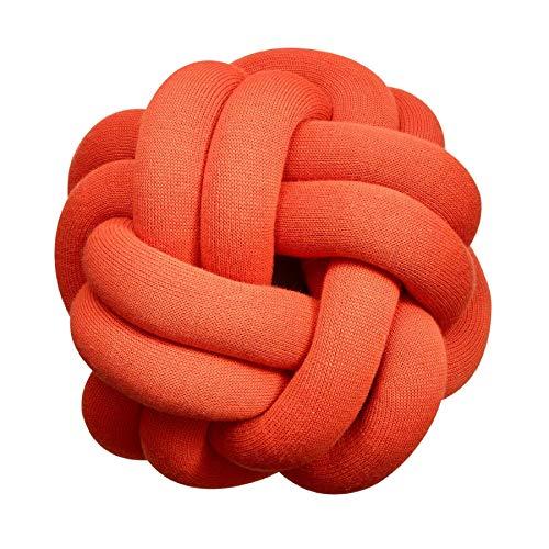 Design House Stockholm Knot Kissen, Tomatenrot waschbar bei 30°C 30x30x15cm