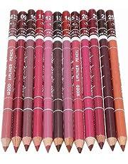 12st Women's professionele make-up Lipliner Waterdicht Lip Liner Pencil Set