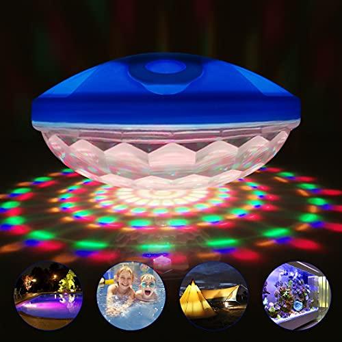 Cootway LED Spa Licht, IP68 wasserdichtes schwimmendes Pool Licht, verwendet für Spa, Pool, Teich, Badewanne, Rasen, Weihnachtsfeier