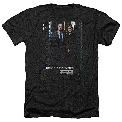 Law & Order SVU Special Victims Unit Photo NBC TV Show Adult Heather T-Shirt Tee Black