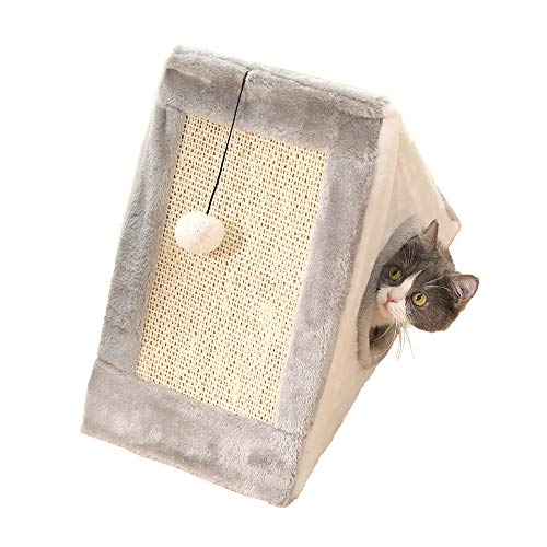 Aida Bz Chat d'animal familier d'escalade de Cadre de Crochet de Griffe de Chat d'escalade de Chat de Cadre de Cat Griffes de Chat d'animal familier Trou de Chat,Gray,L