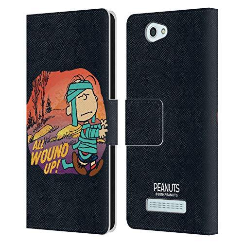 Head Hülle Designs Offizielle Peanuts Linus Mummy Spooktacular Leder Brieftaschen Handyhülle Hülle Huelle kompatibel mit Wileyfox Spark/Plus
