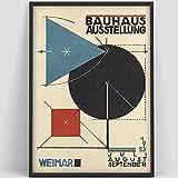 Póster de escalera de la Bauhaus, impresión de la exposición de la Bauhaus de Weimar 1923, impresión de póster de Herbert Bayer, lienzo decorativo sin marco A2 70x100cm