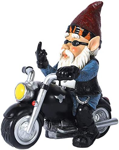 Garden Gnome Riding Statue Funny Outdoor Statue Fairy Outdoor Gnome Decorations Naughty Garden product image