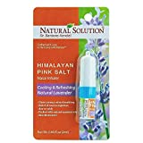 Natural Solution Pink Salt Aromatherapy Nasal Inhaler with Relaxing Natural Lavender Essential Oils,Natural Remedy for Sinus Relief, Allergies, Headaches, Cold, Flu and Congestion - Pack of 2