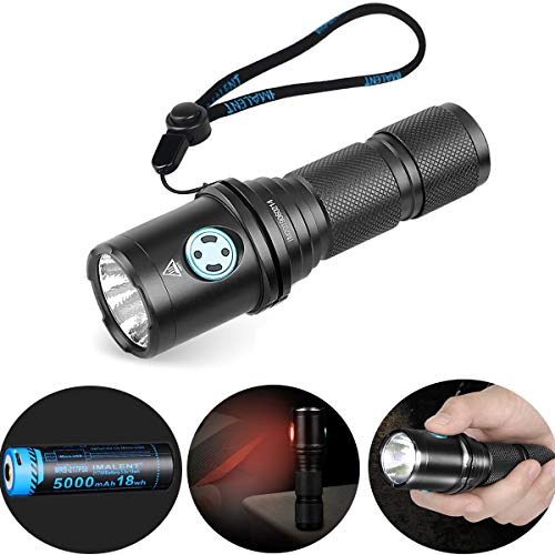 IMALENT DM70 Compact Flashlight, Cree XHP70.2 LED Super Bright 4500 Lumens Rechargeable Flashlight, High Performance Torch