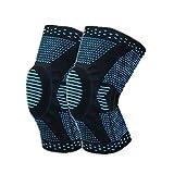 Rodilleras Deportivas Rodillera Knee Active Plus La articulación de la Rodilla Apoyo Manga de la Rodilla FLX Soporte de Rodilla Blue,L