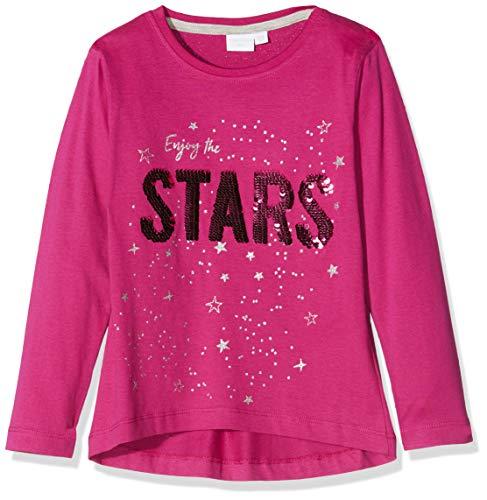 Schiesser Mädchen Shirt 1/1 Langarmshirt, Rot (Pink 504), (Herstellergröße: 116)