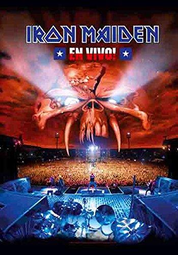 Iron Maiden – en Vivo – posterflaggen Drapeau – Taille 75 x 110 cm