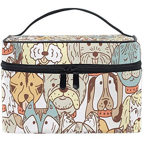 Reistas met ritssluiting handbagage Scarabocchi hond make-up tas toilettas multifunctionele tas