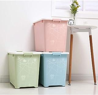 MU Boîte de Rangement portative de ménage en Bois Massif, boîte en Plastique 2 Paquets épaississent Les vêtements Couette ...