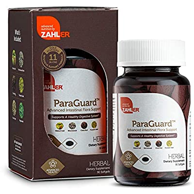 Zahler ParaGuard, Advanced Digestive Supplement, Intestinal Support for Humans, Contains Wormwood, Certified Koshe (90 Softgels) by Zahler