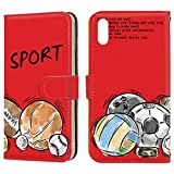 Galaxy A20 (SC-02M・SCV46) スマホケース 手帳型 ミラータイプ [スポーツ ・レッド] サッカー……