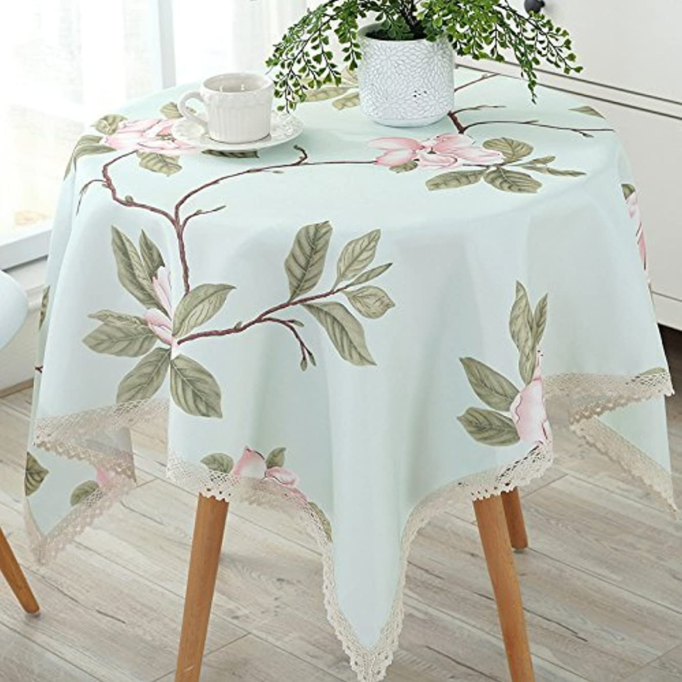 MOMO Waterproof and Anti Hot Oil Cloth Cotton Cloth round round Table Disposable Tablecloth