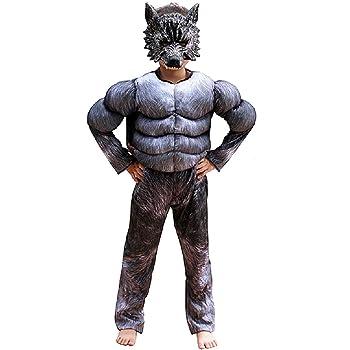 Disfraz de hombre lobo - torso musculoso - superhéroe y máscara ...