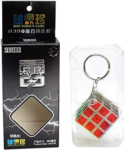 RENFEIYUAN Colgante de decoración Mini 3x3x3 MA con Llavero Rubik Cubo (Color : Clear)