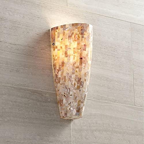 "MWKL Aplique de Pared Moderno de Mosaico de Alto Rendimiento, Mosaico de Vidrio de nácar, cableado de 11 3/4"", Accesorio de Alto para Dormitorio, baño, Pasillo ✅"