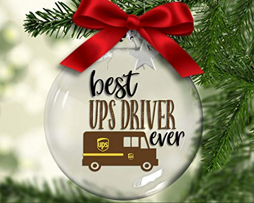 Toll2452 Best Postman Ever Christmas ornament, postal worker, mail delivery, express service Christmas tree decor, Christmas Ball,Xmas gift