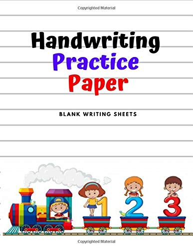 Handwriting Practice Paper: Blank Writing Sheets Notebook for Preschool and Kindergarten Kids, 8.5x11 inches , 100 pages no.12