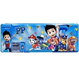 Paw Patrol Pop Out School Pencil Case ZSWQ-Pencil Case with Compartments Double Sided Hardtop Shell for Boys & Girls with Sharpener