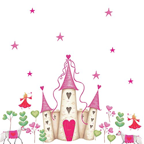 RoomMates Repositionable Childrens Wall Stickers Princess Castl