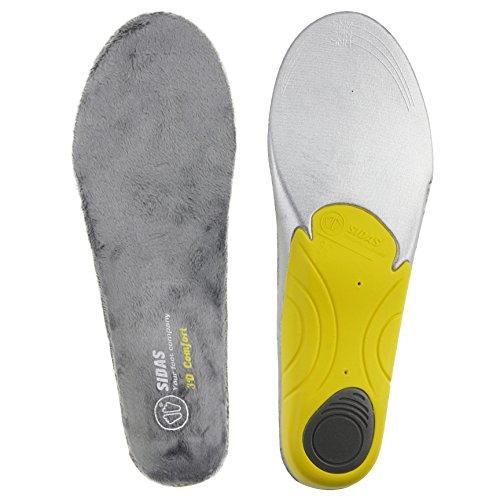 Sidas CSE3DWICOMF16_01 Winter 3D Comfort Insoles Yellow Size Medium 6-7 UK 39-41 EUR