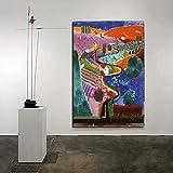 WJY David Hockney Mulholland Drive Leinwand Malerei Poster
