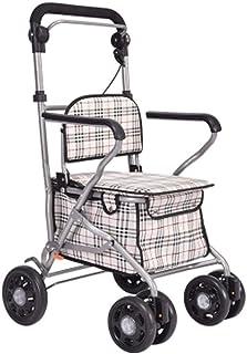 Mobility Aids & Supplies Walker Toddler Rehabilitation Exercise Folding Car Elderly Four-wheel Shopping Cart Take Care Of ...