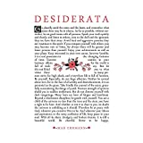 Wee Blue Coo Quote Desiderata Floral Ehrmann Typography