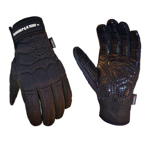 Cestus TURBINATOR BK-3061 2XL Pro Series Polychloroplinen-handschoenen, winddicht, werkhandschoenen, maat XXL, zwart (1 paar)