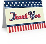 Patriotic Thank You Cards (24 Fold-over Cards and Envelopes)