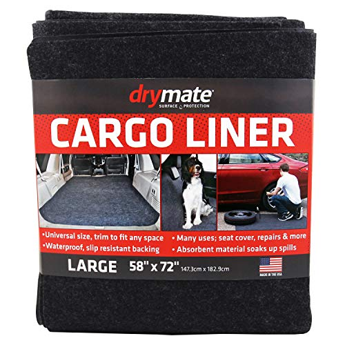 """Drymate Cargo Liner Mat (58"""" x 72""""), Seat Cover/Trunk Liner - Absorbent/Waterproof/Machine Washable - Protects Vehicle Interior, for SUVs, Trucks, Vans, Cars, and Dogs (Made in The USA)"""
