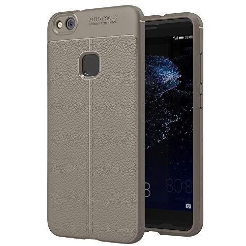 Ebogor para Para Huawei P10 Lite Litchi Texture TPU Funda Protectora de protección (Negro) Caso (Color : Grey)