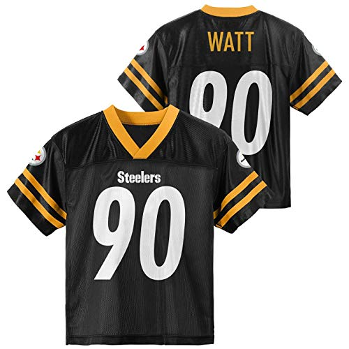 TJ Watt Pittsburgh Steelers #90 Youth 8-20 Black Home Player Jersey (14-16)