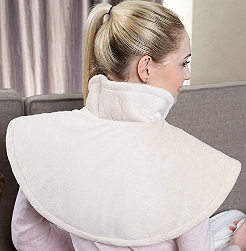 Sweet Dreams Electric Shoulder Heat Pad - Therapeutic, Soothing Adjustable Heating Wrap for Arthritis & Pain Relief (60 x 62cm, Beige)