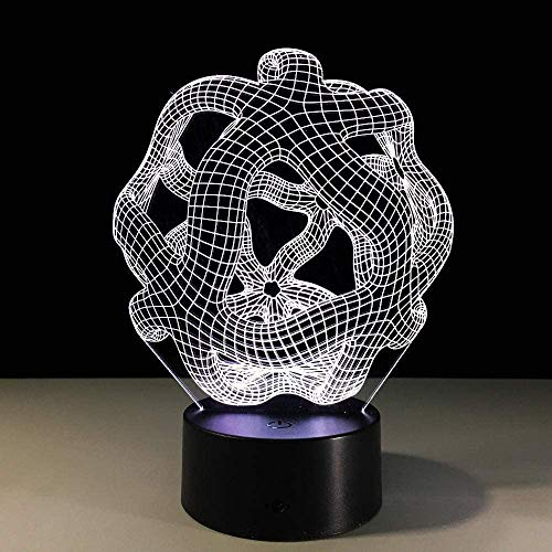 3D LED nachtlampje bijzondere abstracte vorm tafellamp sculptuur licht sieraden kamer touch lamp als Office Art Decoration