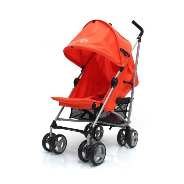 Zeta Vooom Stroller (Orange) ZETA Suitable From Birth Unique drop down privacy hood with parent window Complete with raincover 4