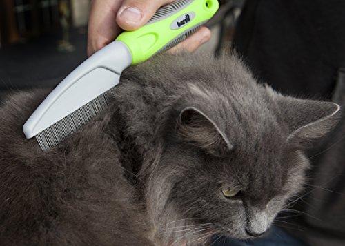 Flea Comb for Cats and Dogs - Removes Fleas, Flea Eggs and Debris