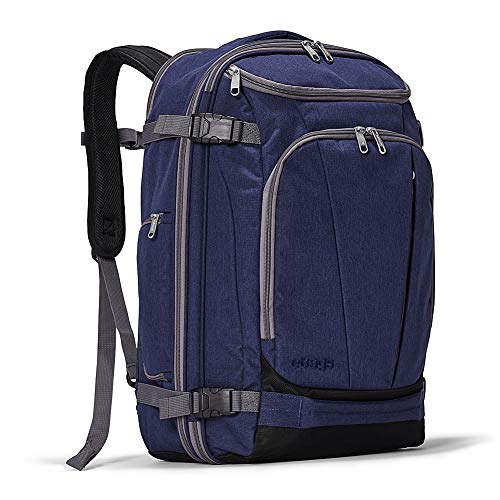 eBags TLS Mother Lode Weekender Convertible Carry-On Travel Backpack - Fits 19 Inch Laptop - (Brushed Indigo)