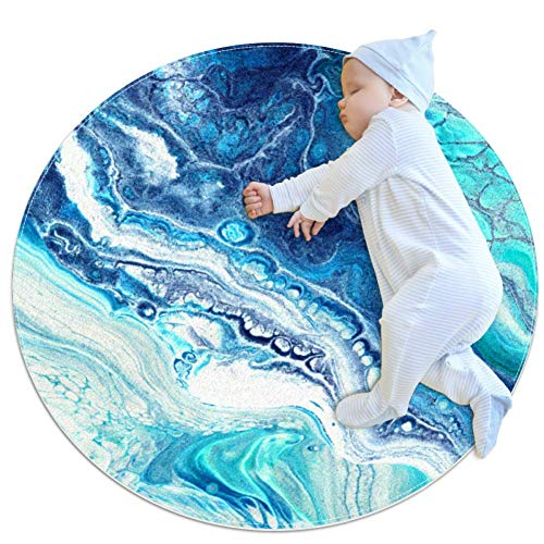 rogueDIV Abstrakter Aquarell-Teppich, Krabbeldecke, Spieldecke für Kinderzimmer, 70 x 70 cm, Mehrfarbig01, 70x70cm/27.6x27.6IN