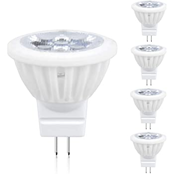 Non-Dimmable 3000K Warm White AC120 Voltage,Equivalent 30W-40W Halogen Bulbs VWV MR11 LED Bulb 4W 36/° Beam Angle 350-400LM 4-Pack