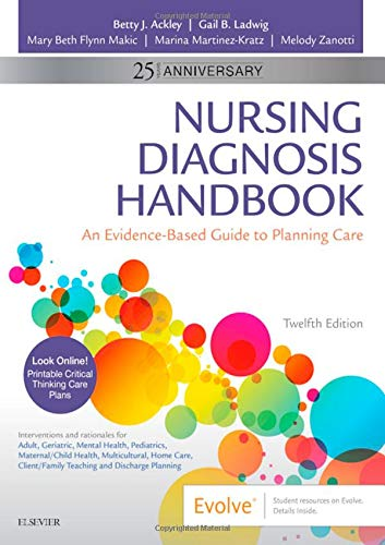 Compare Textbook Prices for Nursing Diagnosis Handbook: An Evidence-Based Guide to Planning Care 12 Edition ISBN 8600007137987 by Ackley MSN  EdS  RN, Betty J.,Ladwig MSN  RN, Gail B.,Makic PhD  RN  CCNS  FAAN  FNAP, Mary Beth,Martinez-Kratz MS  RN  CNE, Marina,Zanotti, Melody