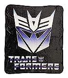 Transformers Decepticon Symbol 80's Cartoon Throw Blanket