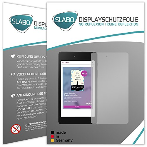 Slabo 2 x Bildschirmschutzfolie für Medion E6912 E-Tab Bildschirmschutz Schutzfolie Folie No Reflexion | Keine Reflektion MATT