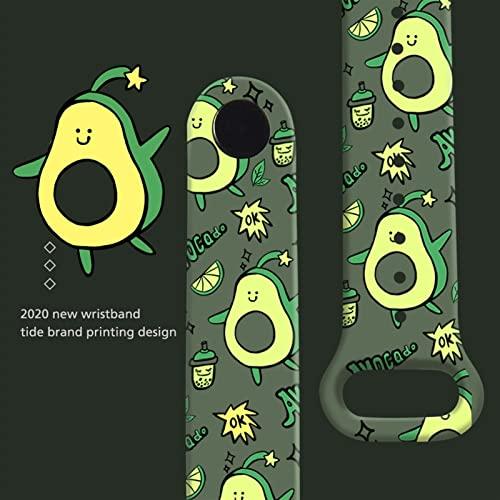 HEONYIRRY Correa de Dibujos Animados for MI Band 6 5 4 3 Pulsera reemplazable Silicona Pulsera Suave for la Banda de 5 MIBAND 6 5 4 Strap (Color : Red, Size : For Mi Band 5)