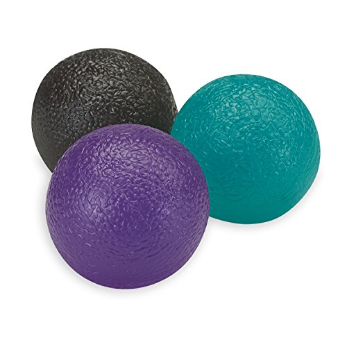 Gaiam Restore Hand Therapy Massage Balls, Blue/Purple/Grey