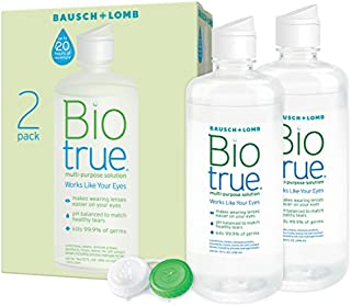 Biotrue Contact Lens Solution for Soft Contact Lenses, Multi-Purpose, 10 oz, (2 Count)