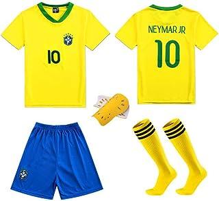 LQsy, Ropa Deportiva De Fútbol, Adecuada para Niños, Juego De Parejas, Equipo De Brasil 10#, Bailey 10# Jersey